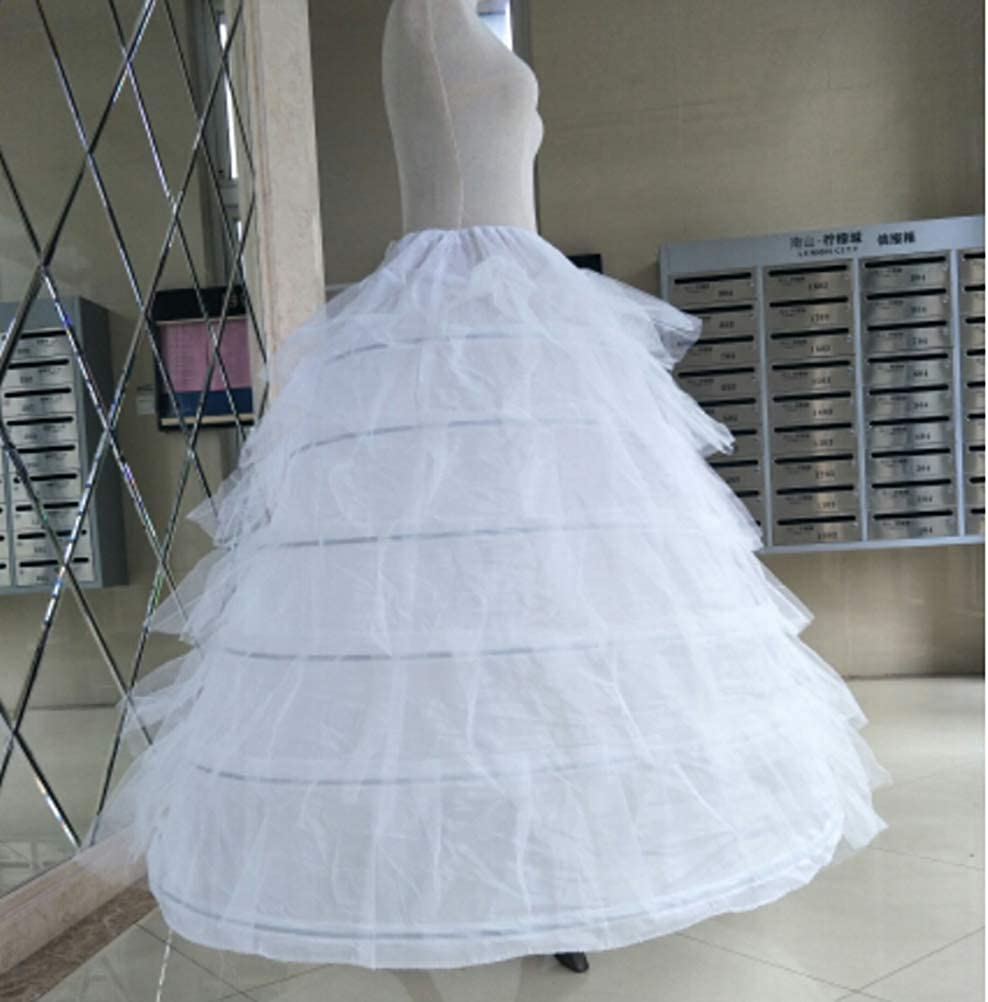 Amosfun Frauen Braut Petticoat Krinoline Unterr/öcke Hochzeit elastischer Petticoat f/ür Prom Quinceanera Kleid Wei/ß