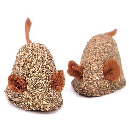 NaXinF Gusano de la Hierba de Gato el Gato en Forma de ratón mâche el Juguete