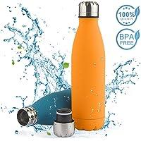 Solocil Bouteille d'eau isolée en Acier Inoxydable - Couche Double, 500ml Bouteille d'eau isolée Revêtement résistant aux Rayures sans BPA