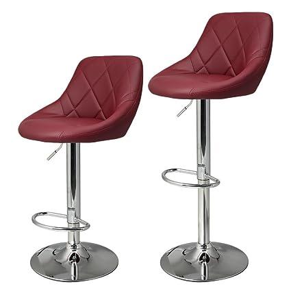 amazon com garain modern synthetic leather swivel bar stool chair