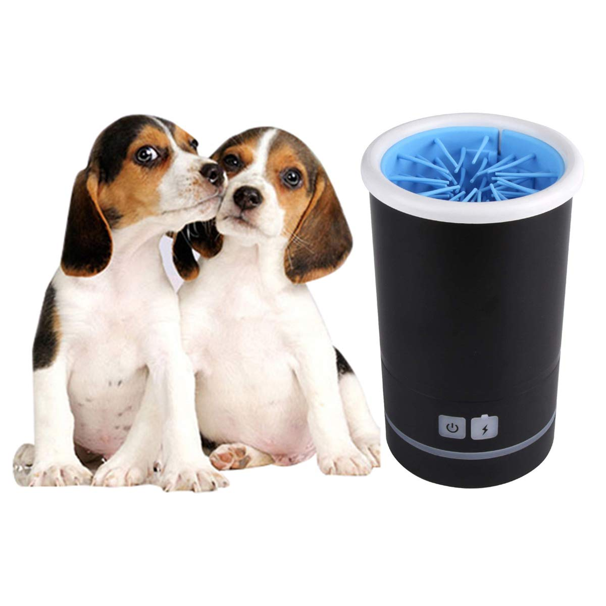PENCK Pet Automatic Paws Cleaner Paw Washer Cup Dog Foot Wash Tools Silicone Bristles Pet Clean Brush Cleaning Paws Muddy Feet USB Charging (for Paws are 4.5CM/1.77'' or Less in Diameter)