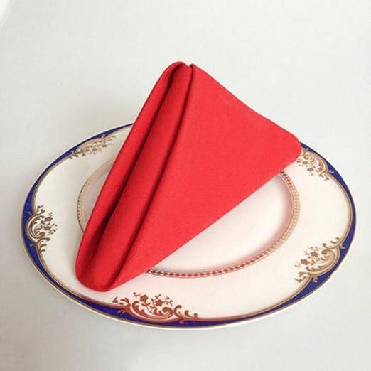 MXJ61 Paño de tela de algodón de color sólido Paño de servilleta ...