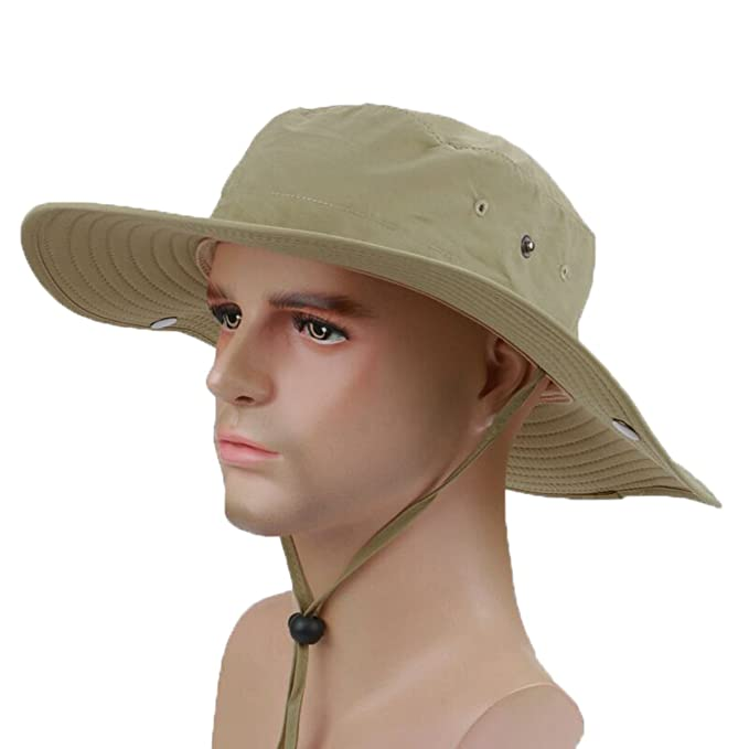 cddd61cfce3 Ksenia Wide Brim Caps Sun Block Collapsible Hats Sombriolet Sun Hat UPF50+  Safari Cap for Safari Fishing Hunting at Amazon Men s Clothing store