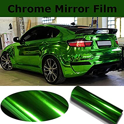 Blue chrome car vehicle wrap vinyl VViViD XPO bubble-free sheet roll 5ft x 5ft