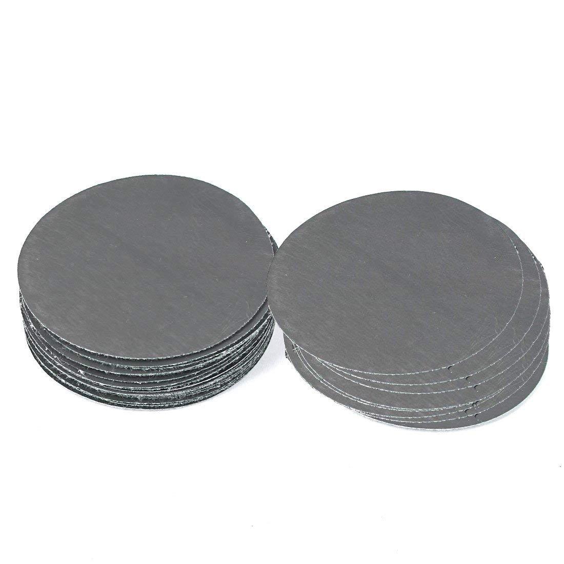 Saim Sanding Discs 60pcs 120 Grit Premium Aluminum Oxide Grain Can Sanding Wood Amber Aluminum Non-Ferrous Meta Plastic Fiberglass Painted Surfaces Mirror 3 inch PSA Sanding Discs