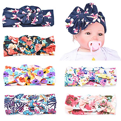 himipopo Baby scarf Hair belt A girl's braid Ornaments (Flower round bow 6pcs)