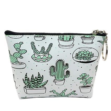 Ruikey Monedero Patrón Cactus Mini Monedero Monederos De ...
