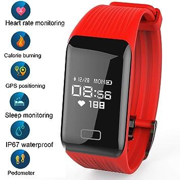 LIGE Montre Connectée,Moniteur de fréquence Cardiaque Fitness Trackers,Bracelet Intelligent Trackers d