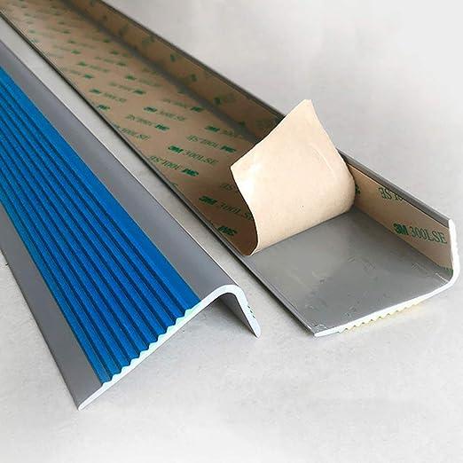 Perfil bordes de escaleras Autoadhesivo Perfil de borde antideslizante Tira antideslizante de escaleras de PVC Nariz antideslizante escalera Para hospital,jardín de infantes,escaleras del hotel(1m): Amazon.es: Hogar