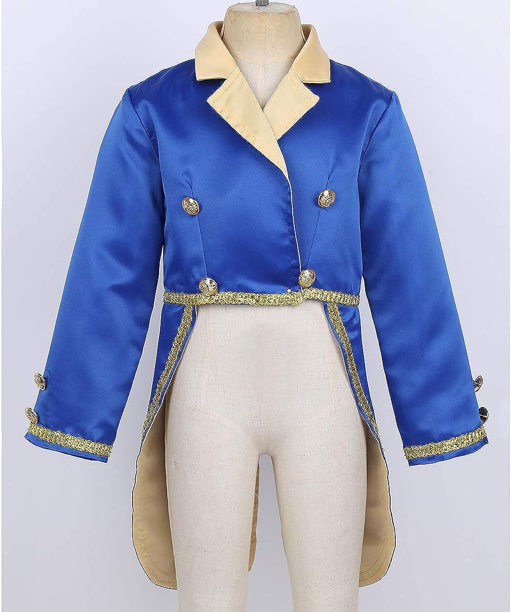zdhoor Kids Infant Boys Prince Halloween Costume Long Sleeves Tuxedo Stage Performance Party Jacket