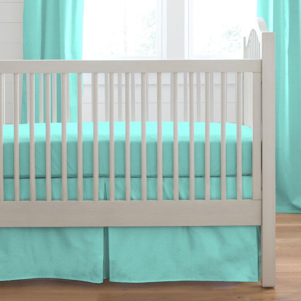 Carousel Designs Solid Teal 2-Piece Crib Bedding Set by Carousel Designs   B00MNSTSZK