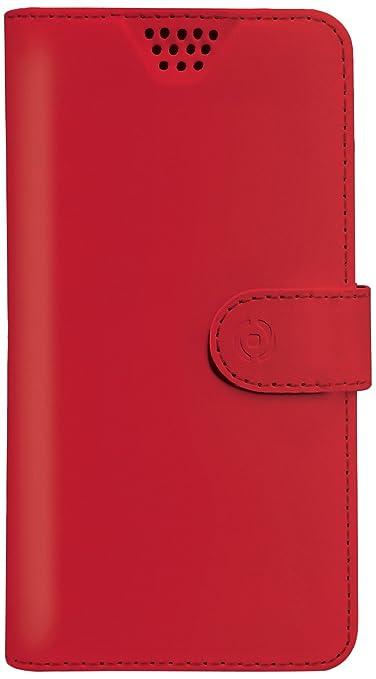 """18 opinioni per Celly Custodia a Libro Universale Wally Unica XL, Misura 4.5""""- 5.0"""", Rosso"""