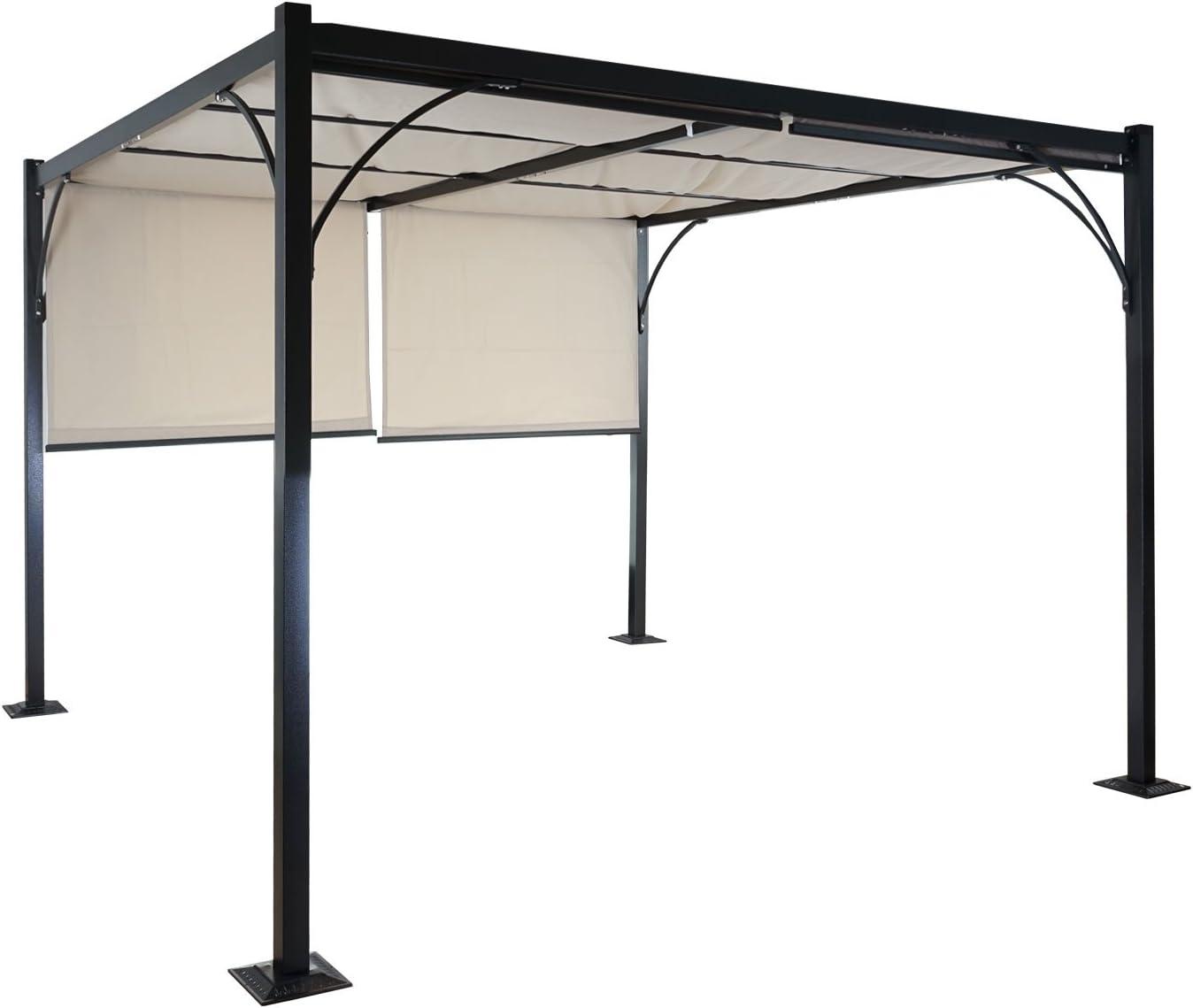Pergola Granada, Cenador, estructura estable de 6 cm de aluminio + ...