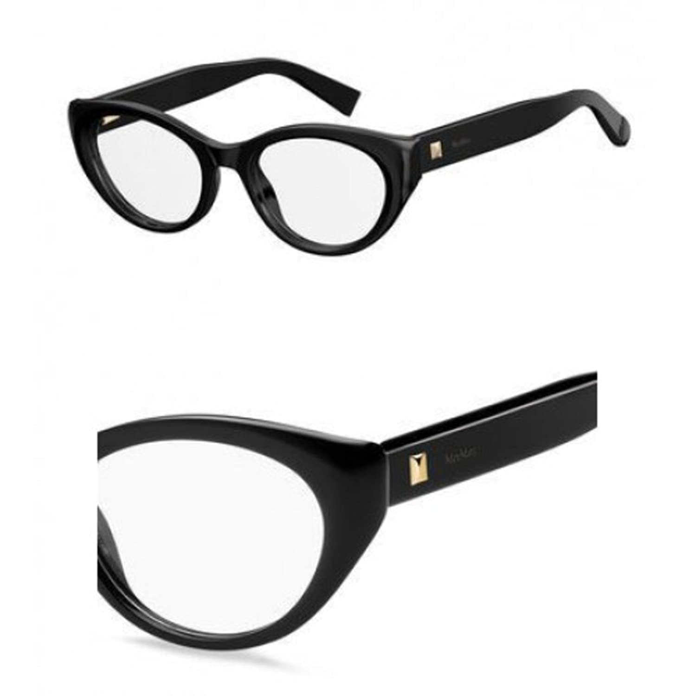 ef2d869fe0e Max Mara Plastic Cat Eye Eyeglasses 50 0807 Black at Amazon Men s Clothing  store