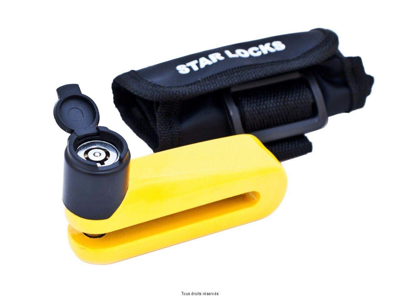 STAR LOCKS - Antifurto Blocca Disco - Giallo - Ø 10mm ROCDIS15