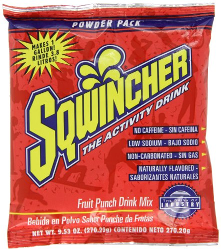 Sqwincher Powder Concentrate Electrolyte Replacement Beverage Mix, 1 gal, Fruit Punch 016005-FP (Case of 80) by Sqwincher (Image #1)
