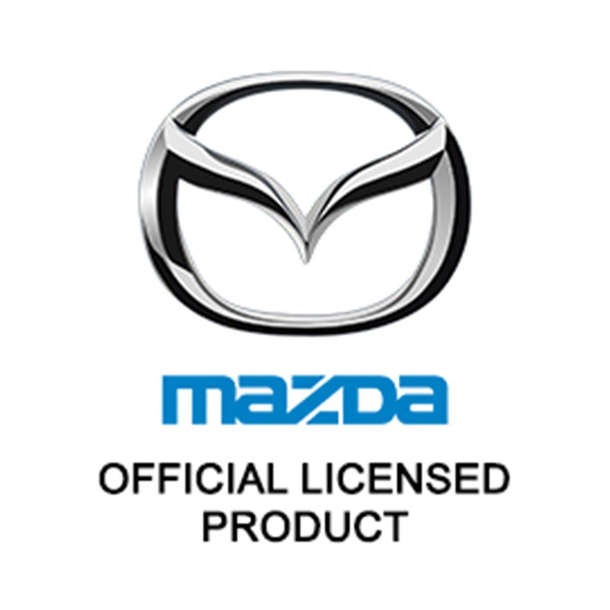 Mazda 6 Blue Spun Brushed Metal Key Ring
