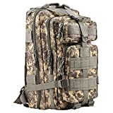 Tactical Backpack - HUKOER 17.7''x 9.9''x 9'' Tactical Rucksack - Fashionable 30L Multiple Colors Outdoor Tactical Shoulder Hiking Daypack Military Backpack Perfect for Young Camping Trekking Hunting (ACU Color)