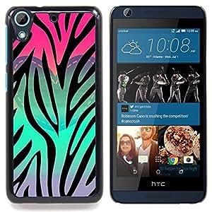 """Corazón del trullo Rosa Púrpura Patrón"""" - Metal de aluminio y de plástico duro Caja del teléfono - Negro - HTC Desire 626 626w 626d 626g 626G dual sim"""