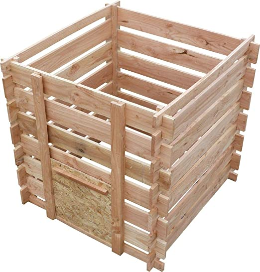 Cihb compostador Madera de Douglas 700 L: Amazon.es: Jardín