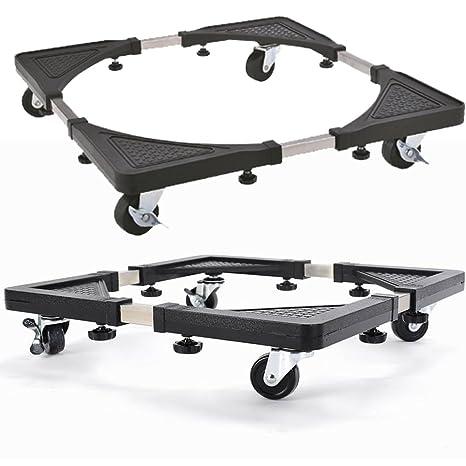 Base con ruedas FB FunkyBuys®, multiusos y ajustable, carrito para frigorífico