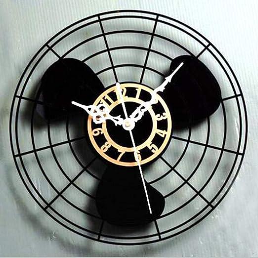 QMPZ-Orologio da parete Reloj de Pared Antiguo Ventilador Reloj de ...