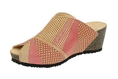 Think Think Zilli - Keil Pantolette - karotte gelb + hellrot - Zapatos de cordones de Piel para hombre, color Rojo, talla 40