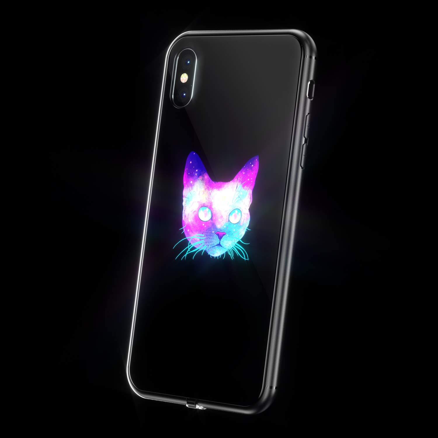 save off 5f89e 15f92 LED Light Up Case for iPhone Xs Max, WILLGOO Music-Activated Flashing  iPhone Case Self Expression, Protective Phone Cover (Cat)