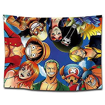 Sonwaohand One Piece Anime Tapisseries Mur Hanging Luffy Printing Tapestry Yoga Mats Beach Towel D/écorations 75 /à 100 cm 1 Fois