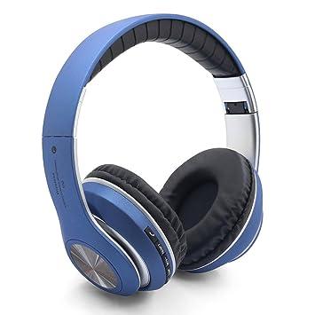 RimeU Bluetooth Auriculares inalámbricos con Micrófono Hi-Fi Estéreo Deep Bass Auriculares plegables Sobre El