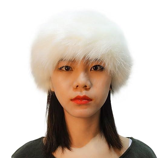 9b943c740f1 ... HAT · FAUX FUR HEADBAND  low priced c1460 6ebcb Manka Vesa Faux Fox Fur  Women Winter Earwarmer Earmuff Ski Warm Russian ...