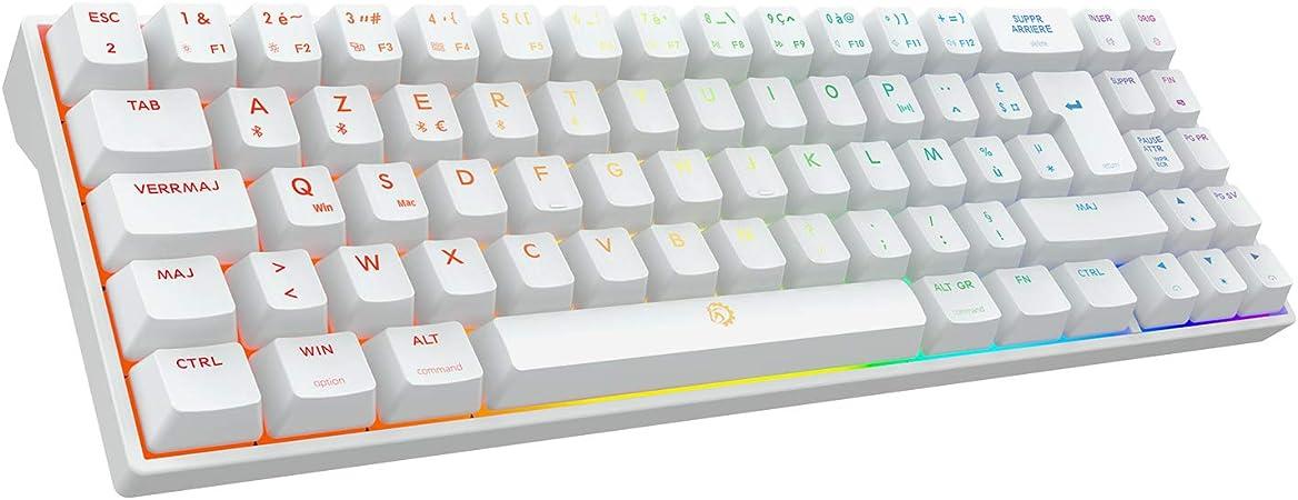 DREVO Calibur V2 Pro - Teclado Gamer mecánico RGB inalámbrico Bluetooth 5.1, cable USB-C desmontable, compatible con PC/Mac, diseño compacto de 72 ...