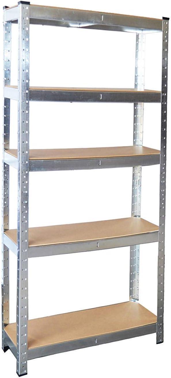 Neo® Heavy Duty Steel Galvanised 5 Tier Garage Shelving Shelf Racking Unit Storage Racks