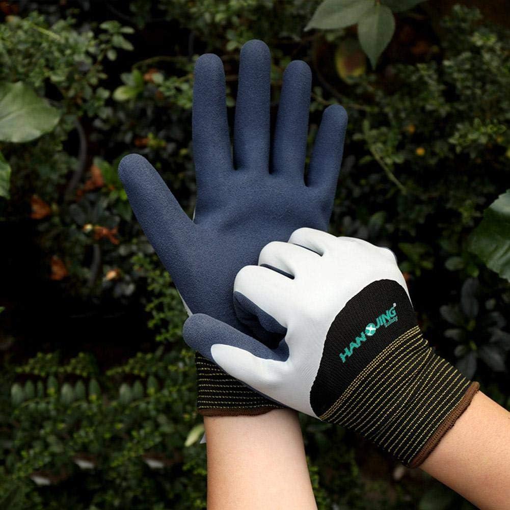 oshidede Arbeitshandschuhe wasserdichte rutschfeste stichfeste Doppelschichten f/ür Unisex-Angelhandschuhe aus Latex