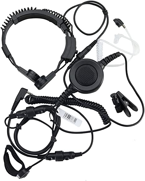 LUFA Military Covert Earpiece Grade Tactical Throat Mic