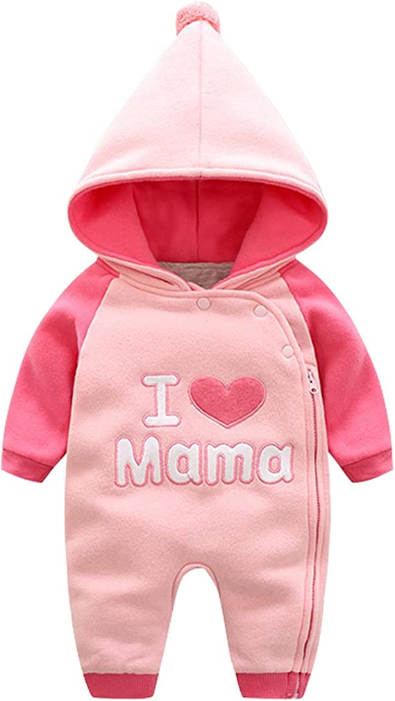 Bebone Baby Kleidung M/ädchen Winter Strampler I Love Mama I Love Papa