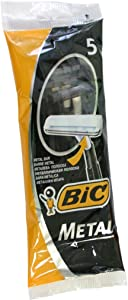 Bic Metal Men's Disposable Shaving Razors, 5-Count x 5 Packs