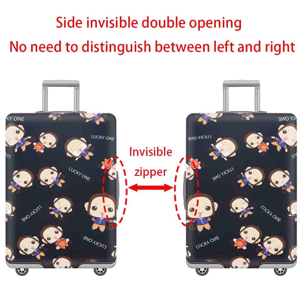 Suitcase Cover Travel Box Aircraft Shockproof Anti-Theft Protective Cover Thick Anti-Wear Elastic Pull Bar Box Dust Cover