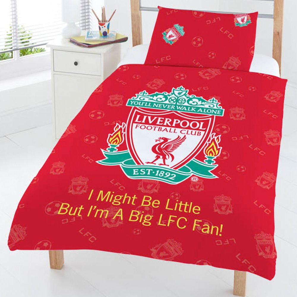 Liverpool Fc Bedroom Accessories Liverpool Football Club Lfc Red Junior Toddler Cot Bed Duvet Quilt