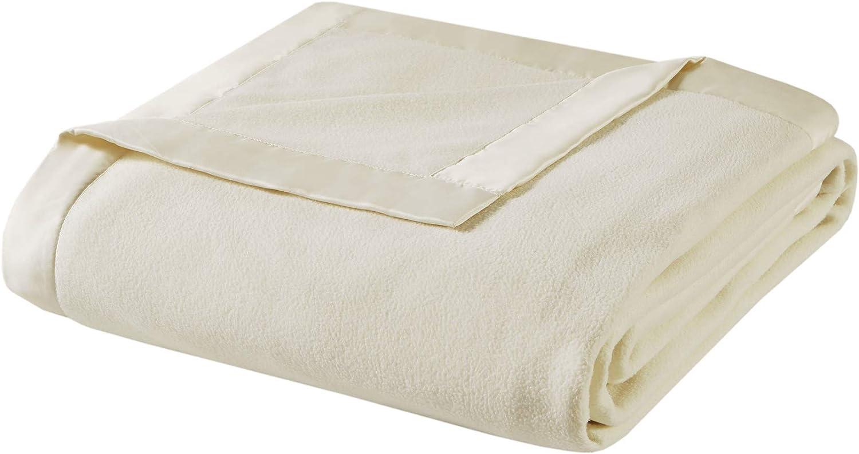 True North by Sleep Philosophy Micro Fleece Luxury Blanket Ivory 9090 Full/Queen SizePremium Soft Cozy Mircofleece For Bed, Coach or Sofa