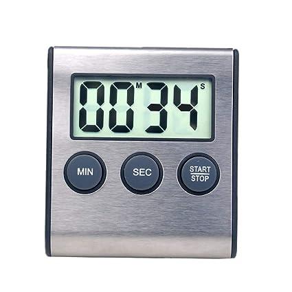 Reloj despertador digital mini temporizador de cocina para cocina electrodoméstico 24 horas reloj cuenta abajo temporizador