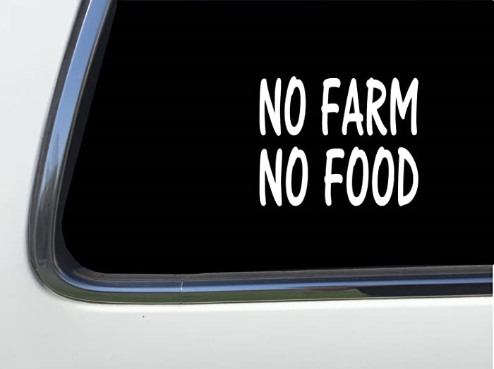 Top 9 No Farm No Food Sticker For Cars