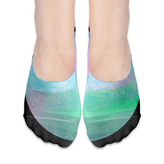 Amazon.com: Colorful Planet Thin Hidden Yoga Socks Non-skid ...