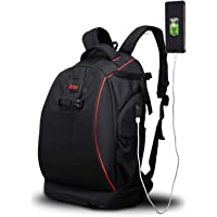 "Voilamart Large Capacity Camera Backpack Waterproof Shockproof Camera Bag Multi-Functional SLR/DSLR Digital Camera Rucksack with USB Charging Port Rain Cover, 19.7""x11.8''x7.9"""