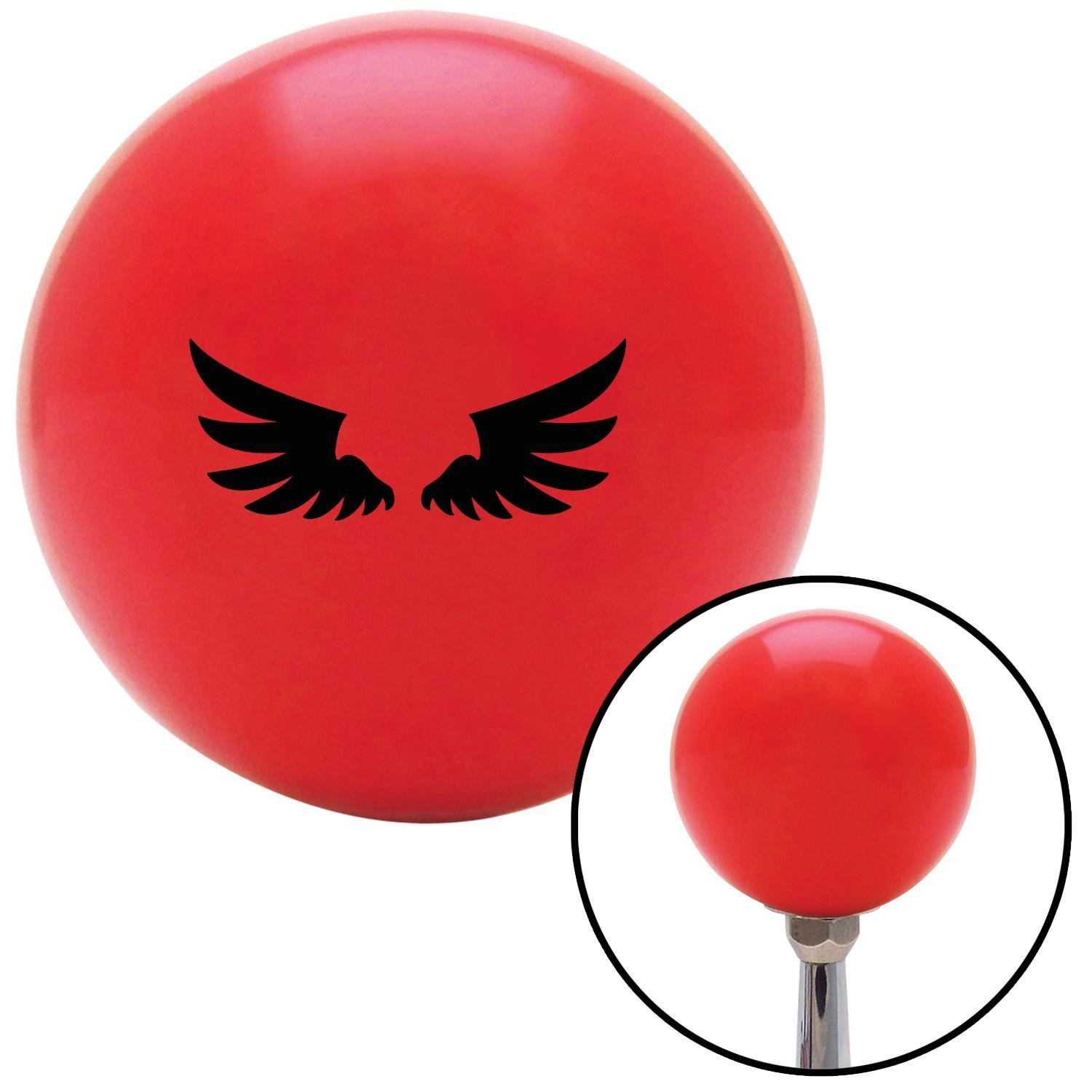 Black Wing of Royalty American Shifter 96561 Red Shift Knob with M16 x 1.5 Insert