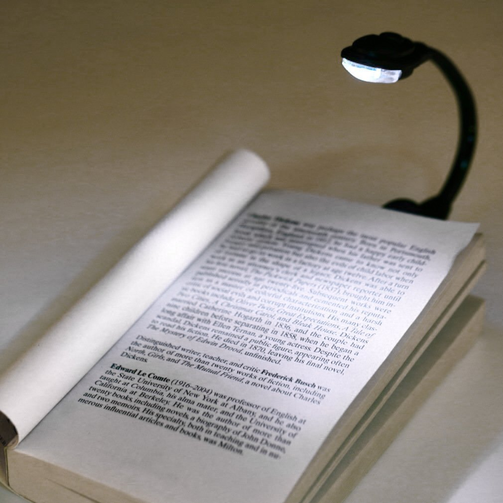 Lampe de poche /à pince l/ég/ère flexible pour ordinateur portable blanc /à LED Livre lampe de lecture liseuse compacte portable dortoir /étudiant Couleur: noir