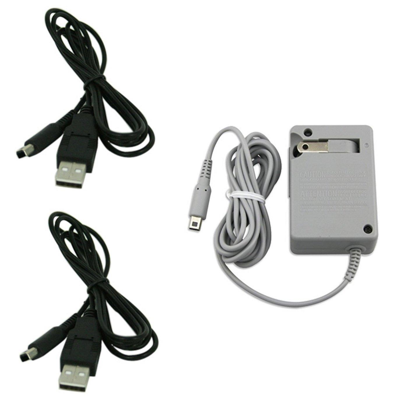 Amazon.com: AC Cargador de pared enchufe y 2 cables de ...