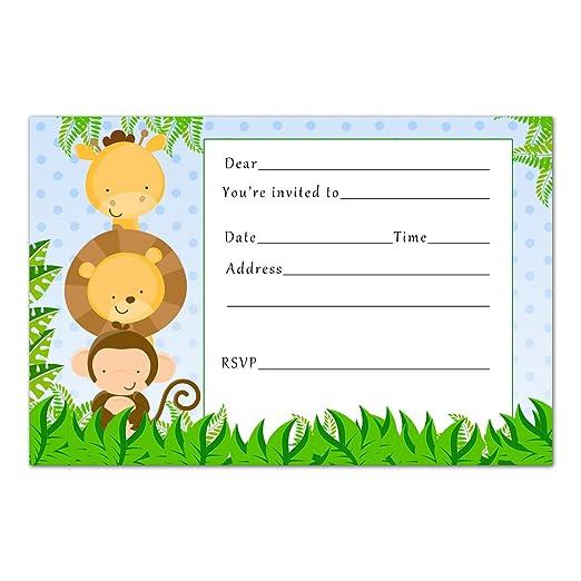 30 invitaciones de cumpleaños para niños, diseño de animales ...