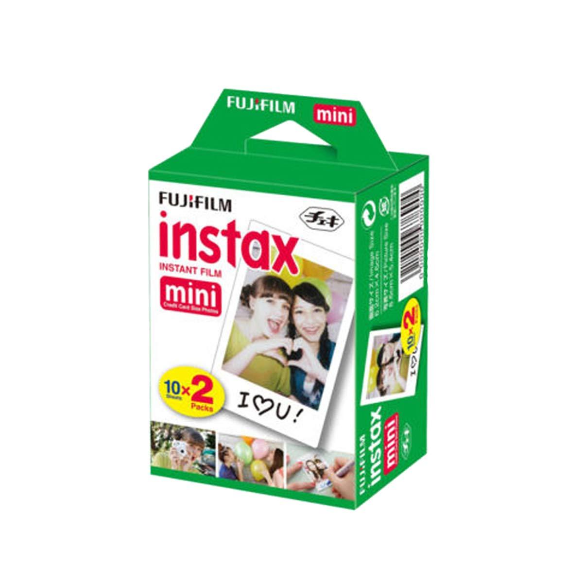 Fujifilm INSTAX Mini Instant Film 2 Pack = 20 Sheets (White) for Fujifilm Mini 8 & Mini 9 Cameras by Fujifilm