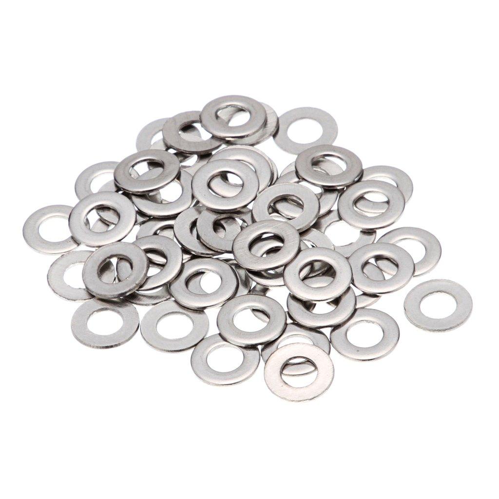 Sharplace 50pcs Rondelles Plates en Inox M4/M6/M8/M10/M12/M14/M16 pour Ecrou Vis Boulon - M6